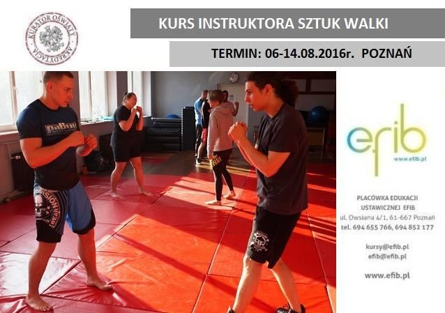 kurs instruktora sztuk walki